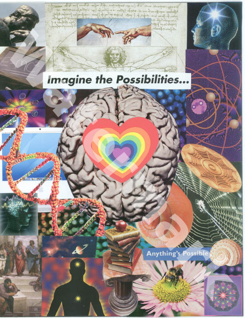 art collage poster called the intelligent heart by mary woods
