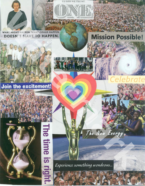 art collage poster called the revolution of the heart by mary woods